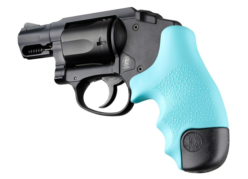 Hogue Smith & Wesson J Frame Round Butt Tamer Grip-Aqua-60024 ...