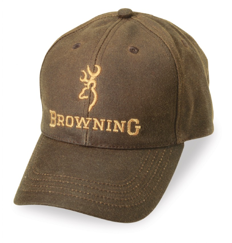 d8a7b2e1ccd2de Browning Dura-Wax Cap-Men's Brown Hat Water Resistant-3084121 ...